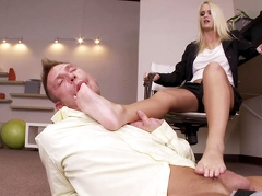 SEXU Movie:Blonde office lady with gorgeo...